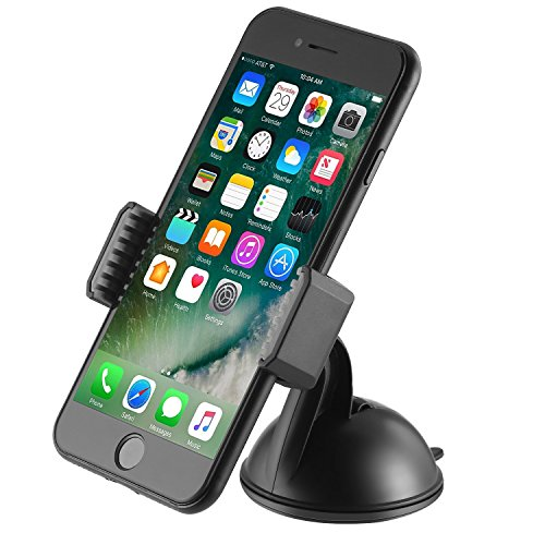 Dashboard Phone Holder - GETRON Universal Car Dashboard Windshield Cell Phone Mount with Washable Strong Sticky Gel Pad for iPhone XS MAX XR X 8 Galaxy S9 Plus Note 9 and Most Smartphones - Black