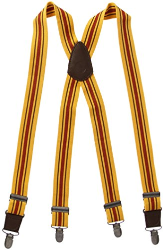 Chef Works Men's Berkeley Striped Bib Apron Suspenders, Yellow/Multi, OS