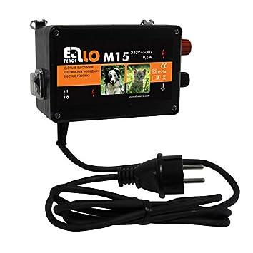 Ellofence M15 Dispositivo para electrificar vallas y cercados, extremadamente silencioso, defensa contra perros, gatos y otros animales pequeños, ...