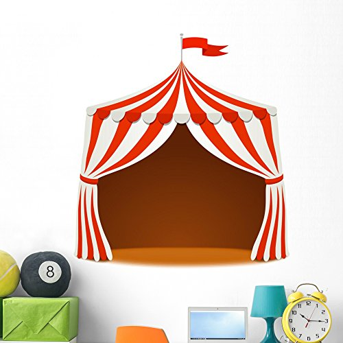Circus Tent Vector Wall Decal by Wallmonkeys Peel and Stick Graphic (48 in H x 48 in W) - Cirque Tent
