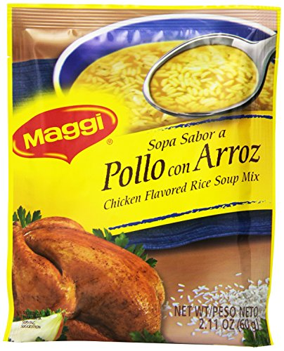 Goya Chicken (Goya Foods Maggi Chicken Flavored Rice Soup, 2.11-Ounce (Pack of 48))