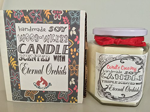 Eternal Orchids Scented Soy Container Candle With Wood Wick 12 Oz US Handmade