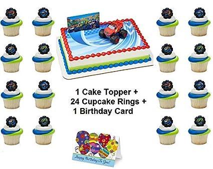 Amazon.com: Juego de decoración para tartas de Blaze y ...