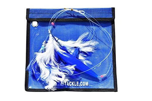 Eat My Tackle DAISY CHAIN BLUE FEATHER WITH BIRD FISHING LURE