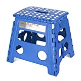 Acko Folding Step Stool - 13 inch Height Premium Heavy Duty Foldable Stool For Kids & Adults, Kitchen Garden Bathroom Stepping Stool (Blue)