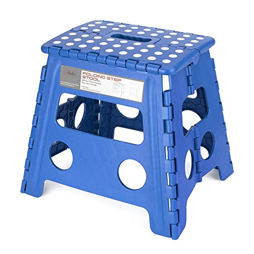 Acko Folding Step Stool - 13 inch Height Premium Heavy Duty Foldable Stool For Kids & Adults, Kitchen Garden Bathroom Stepping Stool (Blue) by Acko