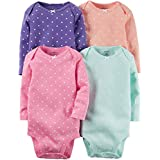 Carter's Baby Girls Multi-Pack Bodysuits 126g336, Assorted, 12 Months