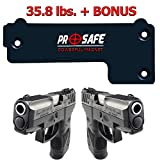 Gun Magnet Mount & Holster For Home & Vehicle -Upgrade To More Surface Area 35.8 Lbs- Concealed...