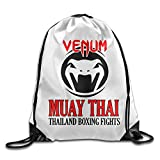 Venum Muay Thai Logo Gym Bag Travel Sports Drawstring Backpack For Sale