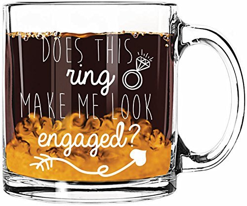 Salty and Sweet Does This Ring Make Me Look Engaged? Coffee Mug, 13oz