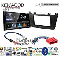 Volunteer Audio Kenwood DMX7704S Double Din Radio Install Kit with Apple CarPlay Android Auto Bluetooth Fits 2012-2013 Mazda 3