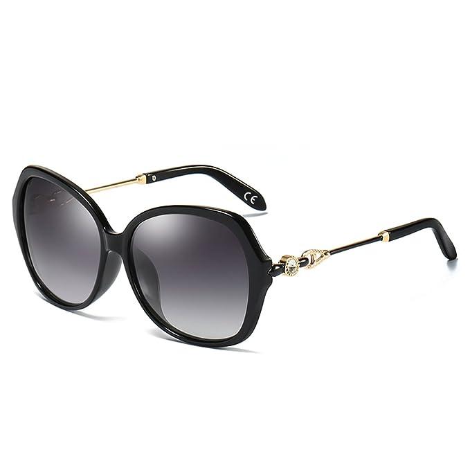ed7ae2ab3b BLEVET Moda Oversize Occhiali da Sole da Donna Polarizzati 100% Protezione  UV Occhiali  Decorazione