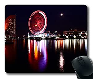 Mouse Pad - Yokohama Japan At Night Durable Office Accessory Desktop Laptop MousePad and Gifts Gaming mouse pads by runtopwell