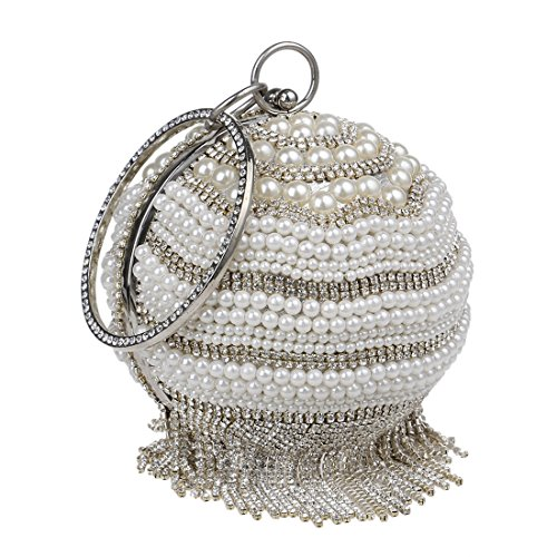 sera con cerimonia nero modello trapano sposa la modellato da nuziale cocktail donne da argento frizione per borsa palla colore Mallty UnI0ZA7Wq7