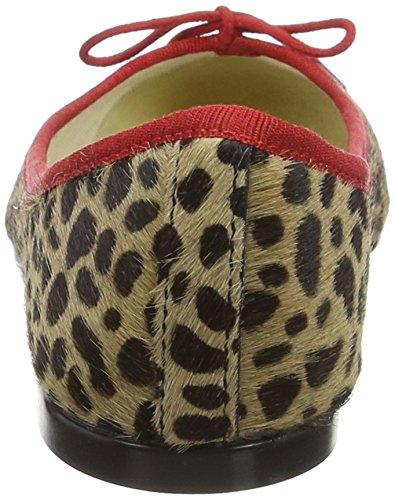 French Sole Inida, Bailarinas para Mujer Beige (Leopard)