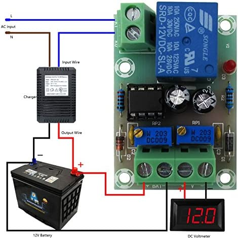Amazon.com: LM YN Battery Charging Control Board DC 12V Intelligent Power  Control Board Charger Power Automatically Charged: Home Audio & TheaterAmazon.com