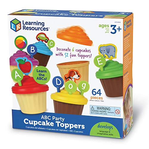 51GEw9mbeFL - Learning Resources ABC Cupcake Party Toppers, Early Alphabet Learning, Vocabulary Toy, Ages 3+