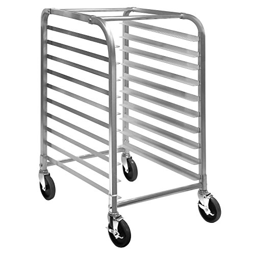 Load Pan Rack Bun (GRIDMANN Commercial Bun Pan Bakery Rack - 10 Sheet)