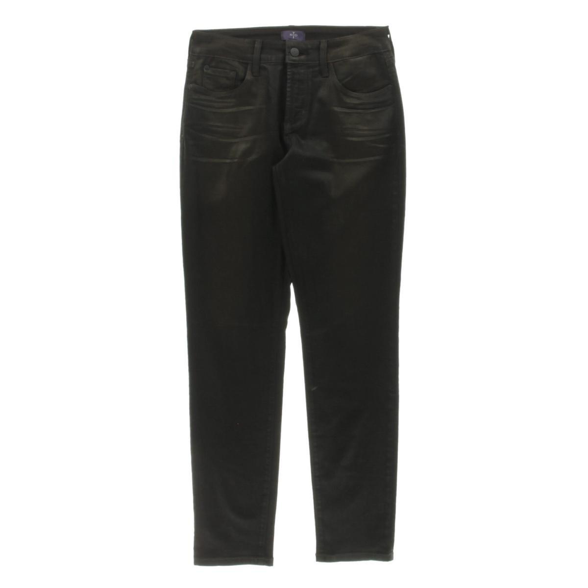 NYDJ Bronze Coated Legging Petite Not Your Daughters Jeans Pants
