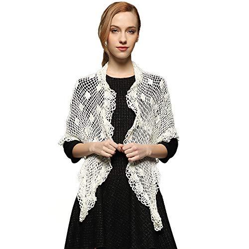 - ZORJAR Scarfs for Women Shawls and Wraps Triangle Crochet Knit Winter Scarf
