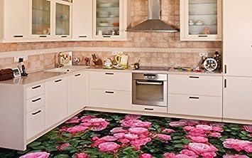 3D Küche Boden Vinyl Dekor PVC Bodenbelag Teppich Aufkleber ...
