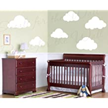 Clouds Wall Decals - Kids Room Playroom Nursery Baby Sky - Vinyl Sticker Art Large Decoration Sign Graphic Decor Mural