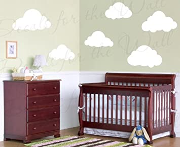 White Clouds Wall Decals   Kids Playroom Nursery Sky For Baby Boy Or Girl    Vinyl Part 97