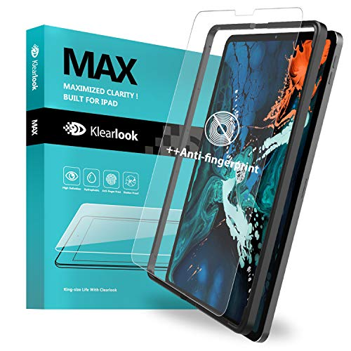 Klearlook Matte Screen Protector Compatible with 2018 New iPad Pro 12.9 inch, Tempered Glass Protector Anti Glare [Face ID Workable][with Easy Install Tool] [Case-Friendly] for 2018 iPad Pro 12.9