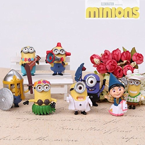 Dispicable Me Disney (Despicable Me Minions Movie Action Figures Character Doll Toy Set of 8pcs)
