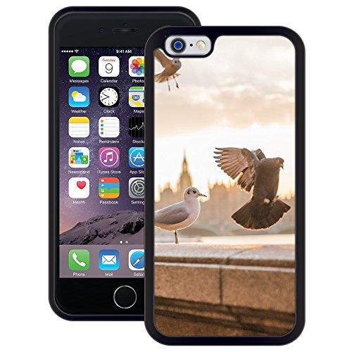 Tauben-Stadt   Handgefertigt   iPhone 6 6s (4,7')   Schwarze Hülle