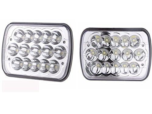 V Spec 1pr-7x6CH Chrome/Clear V-Spec LED Headlight Conversions, Sealed Beam