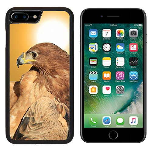 Tawny Eagle - MSD Premium Apple iPhone 7 Plus Aluminum Backplate Bumper Snap Case Tawny Eagle Wildlife Background from Africa Bow of Golden Beauty IMAGE 28424229