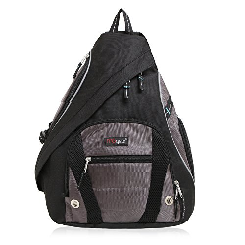 MGgear Black Polyester Cross Body Outdoor Biking Backpack, Black