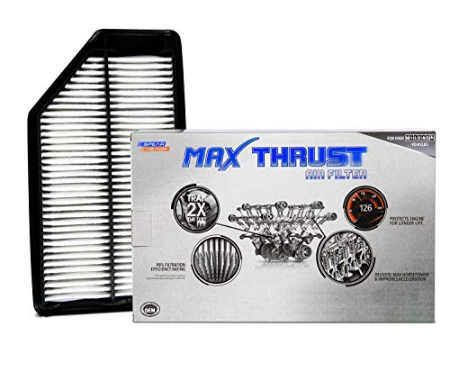 Spearhead MAX THRUST Performance Engine Air Filter For Low & High Mileage Vehicles - Increases Power & Improves Acceleration (MT-042)