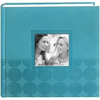 "Pioneer Embossed 2-Up Photo Album 4""X6"" 200 Pockets-Aqua Circles"