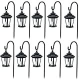 Four Seasons TV29960BK Black, Solar Candle Pathway Lantern Lights – Quantity 10