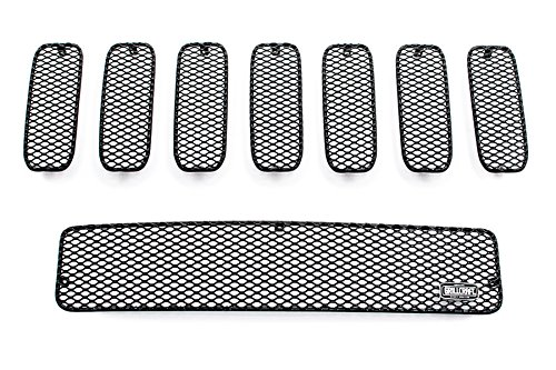 GrillCraft H2505-07B MX Series Black Upper 7pc & Lower 1pc Mesh Grill Grille Insert for Hummer