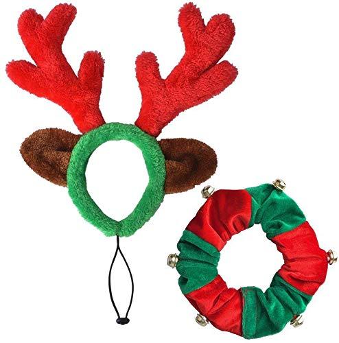 PUPTECK Christmas Reindeer Antle...