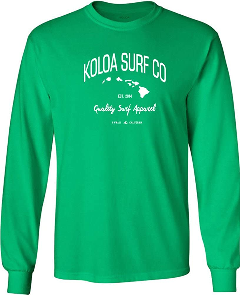 Joes USA Koloa Surf Long Sleeve Islands Logo Heavy Cotton T-Shirts Regular Big /& Tall