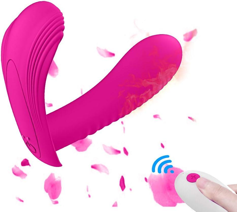 Vībrǎdøręș Cøntrøl Ręmoto, Mạsạjeạdor Portatil Mujěres Vǐvrǎdǒr para Pǎręjǎs con 10 Modos, Recargable USB Magnético Cable Cargador, 100% Impérmeable, Siliconǎ, Calefaccion
