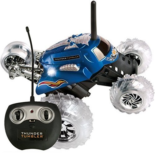 Black Series Thunder Tumbler Remote Radio Control Rally 360 Spinning Car ()