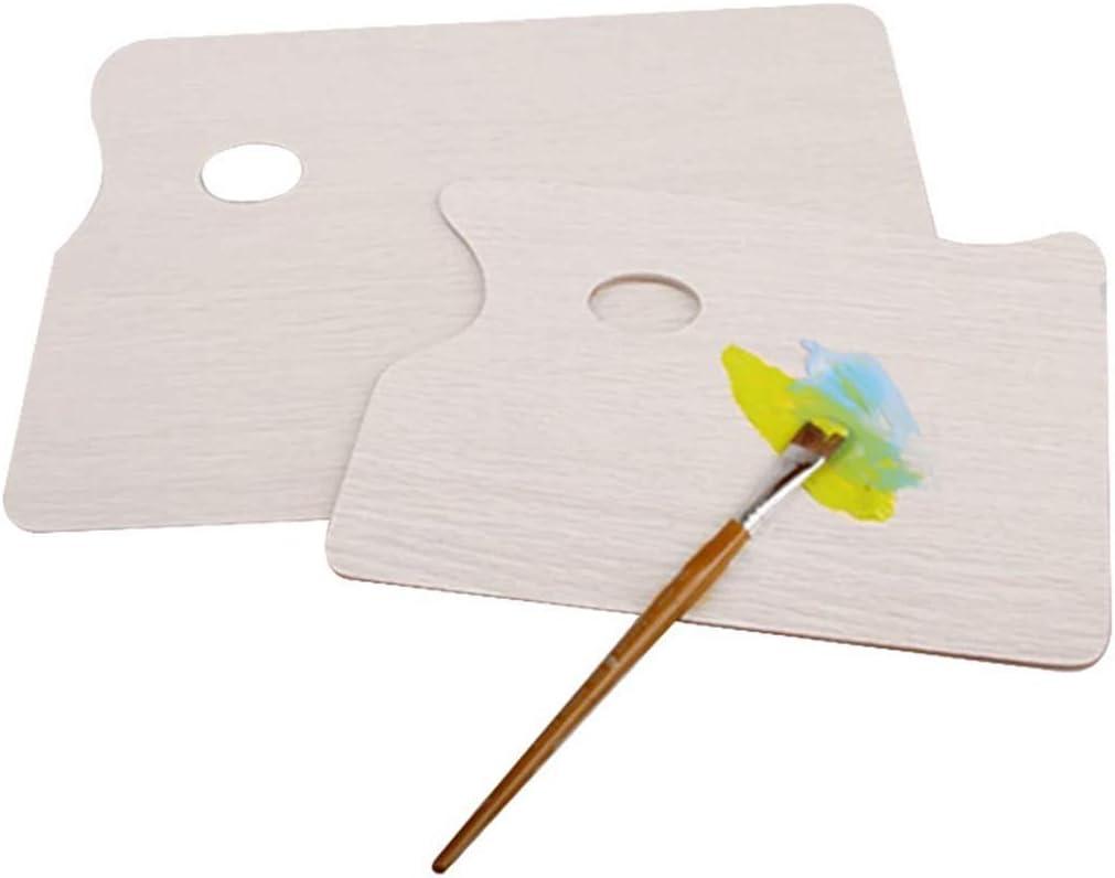 Santonliso Paleta de Pintura acrílica para sellar Aceite, Paleta Cuadrada de Madera, Madera, A001: Amazon.es: Hogar
