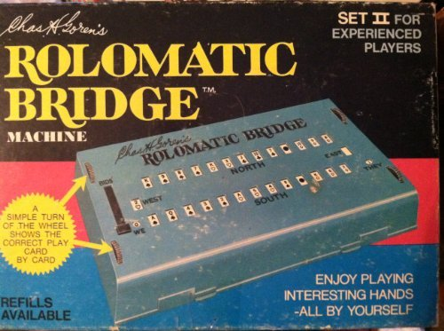 (Charles H. Goren's Rolomatic Bridge Machine -- Set II for Experienced Players -- a Simple Turn of the Wheel Shows the Correct Play Card by Card -- Milton Bradley Company -- 1969 -- as shown)