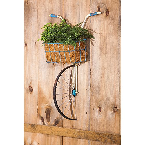 Cape Craftsmen Bicycle Basket Planter Wall Decor