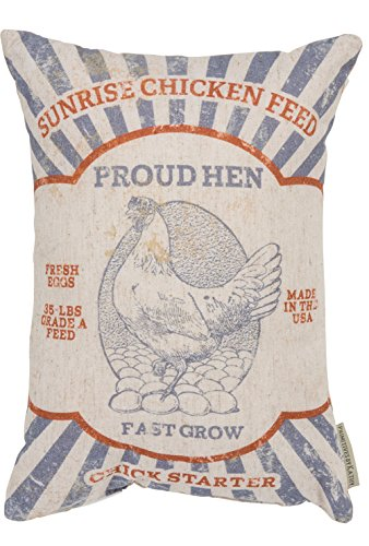 Farmhouse pillow grain sack pillow feed sack pillow vintage pillow