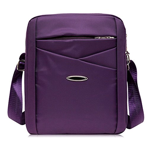 Männer Und Frauen Messenger Ipad Schulter Tote Sling Freizeit Tasche Braun Oxford,Purple-22cm*7cm*27cm