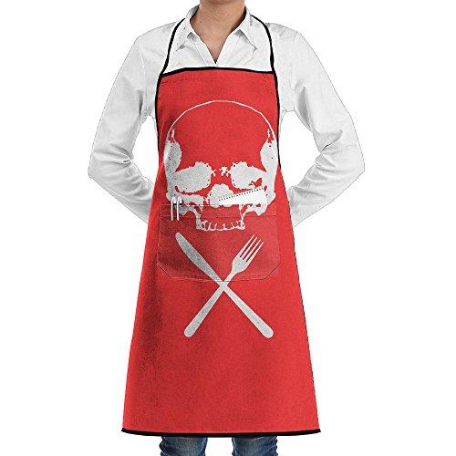 Bigkhhk Men&Women HALLOWEEN Food Horror Recipe Adjustable Straps Kitchen Apron Chef Bib Apron With Pockets Idea For Cooking,Crafting,Gardening,BBQ (Box Recipe Girly)