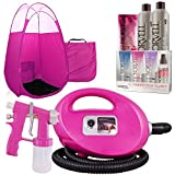 Pink Fascination Spray Tan Machine, Pink Tent, Norvell Tanning Solution and Sunless Maintenance Kit
