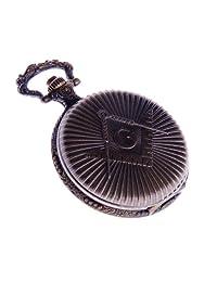 Masonic Pocket Watch With Chain Quartz Movement Arabic Numerals Full Hunter Vintage Design PW-40