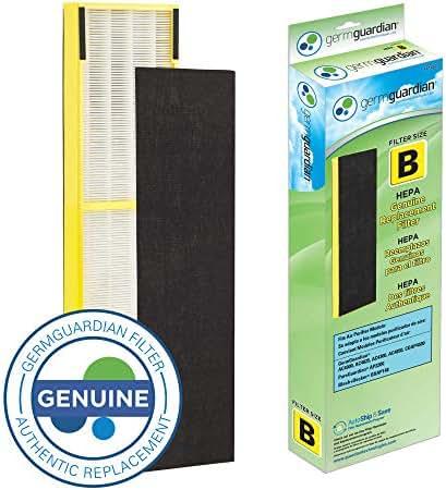 GermGuardian Air Purifier Filter FLT4825 GENUINE HEPA Replacement Filter B for AC4825, AC4825E,AC4825DLX, AC4300BPTCA,AC4850PT,AC4900CA,CDAP4500BCA,CDAP4500WCA Germ Guardian Air Purifiers[UPGRADED]